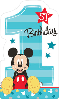 Disney Mickey's Fun To Be One  Postcard Invitations