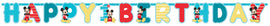 Disney Mickey's Fun To Be One  Jumbo Letter Banner Kit