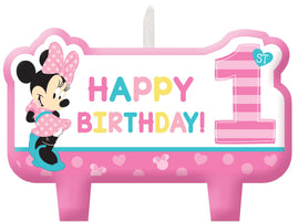 Disney Minnie's Fun To Be One Birthday Candle Set