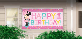 Disney Minnie's Fun To Be One Horizontal Giant Sign Banner