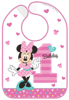 Disney Minnie's Fun To Be One Baby Bib