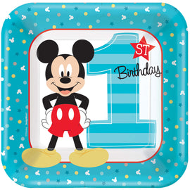 Disney Mickey's Fun To Be One  Square Plates, 7""