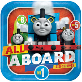 Thomas All Aboard Square Plates, 9""