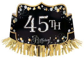 Sparkling Celebration Add-Any-Age Foil Crown w/ Fringe