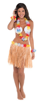 Adult Hula Skirt Kit - Shell