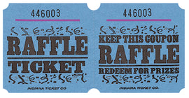 Blue Raffle Ticket Roll