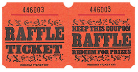 Orange Raffle Ticket Roll