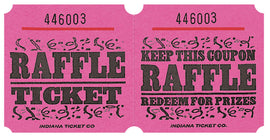 Pink Raffle Ticket Roll