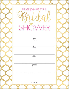 Bridal Shower Value Pack Invitations