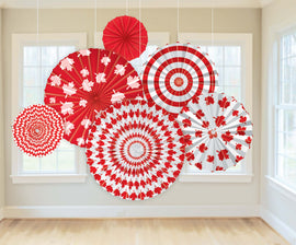 Canada Day Paper Fans