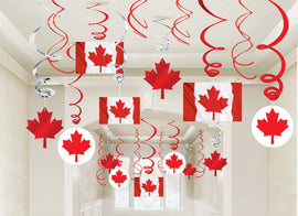 Canada Day Mega Value Pack Foil Swirl Decorations