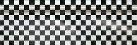 "Checkerboard Printed Plastic Table Roll, 40"" x 100'"