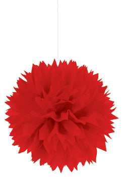 Apple Red Fluffy Paper Decorations