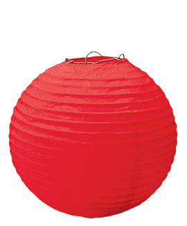 Apple Red Round Paper Lanterns