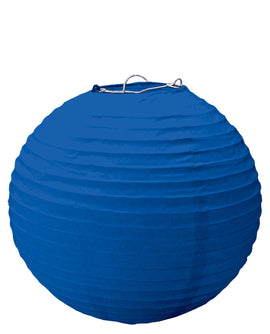 Bright Royal Blue Round Paper Lanterns