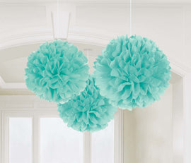 Fluffy Decorations - Robin's-Egg Blue