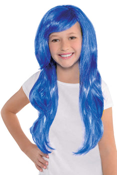 Blue Glamourous Wig