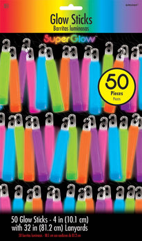 "4"" Glow Stick Super Mega Value Pack - Multi Color"