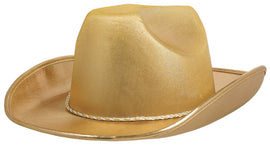 Gold Velour Cowboy Hat