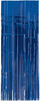 Bright Royal Blue Metallic Curtain 3'x8'