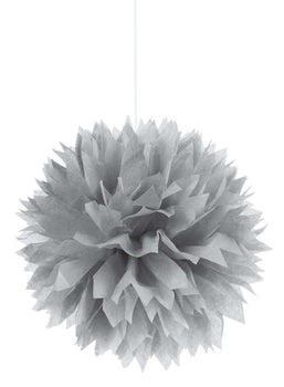 Silver Paper Fluffy Decorations