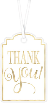 """Thank You"" Printed Tags - White"