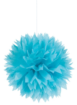 Caribbean Blue Fluffy Paper Decorations