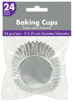 Cupcake Cases - Silver