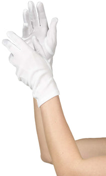 Women`s Short White Gloves