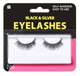 Black & Silver Eyelashes