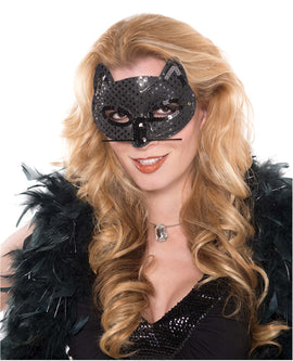 Mask - Black Cat Sequin