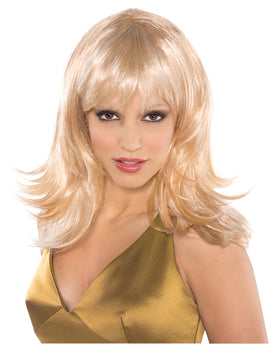 Blonde Feather Shag Wig