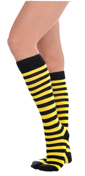 Bee Stripe Knee High Socks