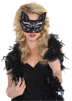 Deluxe Black Cat Mask