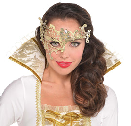 Filigree Gold Half Mask