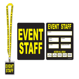 Event Staff Party Pass lanyard w/card holder