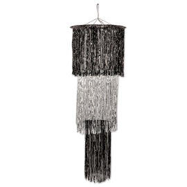 3-Tier Shimmering Chandelier black & silver (1-Ply)