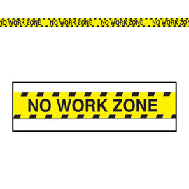 No Work Zone Party Tape all-weather poly material