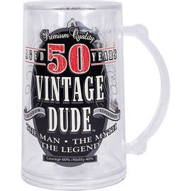 Vintage Dude 50Th Birthday Tankard