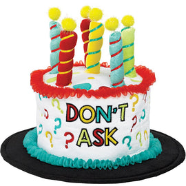 """Don't Ask"" Novelty Cake Hat"