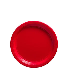 Apple Red Big Party Pack Paper Plates, 7""