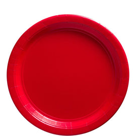Apple Red Big Party Pack Paper Plates, 9""