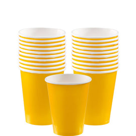 Yellow Sunshine Paper Cups, 9oz.