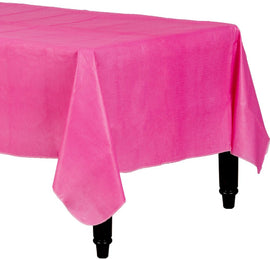 Bright Pink Flannel-Backed Vinyl Table Cover