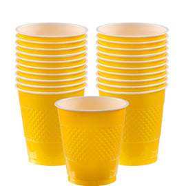 Yellow Sunshine Plastic Cups, 12 oz.