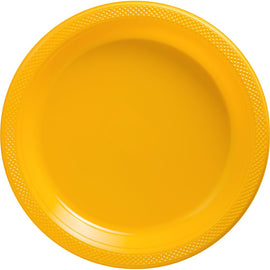 Yellow Sunshine Plastic Plates, 10 1/4""