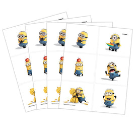 4 Despicable Me Tattoo Sheets, 24 Tattoos