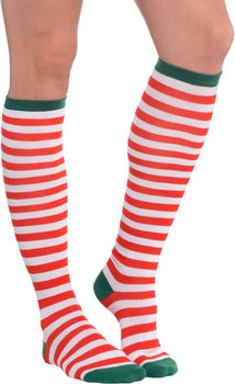 Candy Cane Stripe Knee Socks