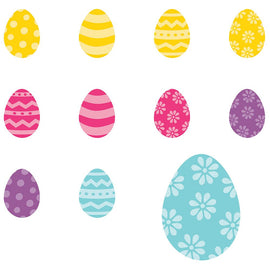 Easter Super Value Mini Glitter Packaged Paper Cutouts