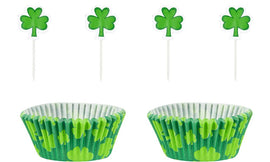 St Patrick's Day Cupcake Cases w/ Picks